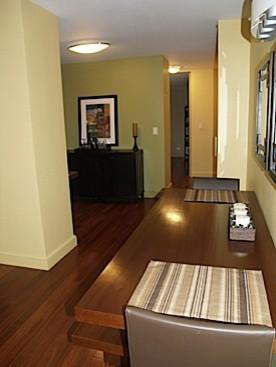 Manhattan Apartment - Entry View contemporary-dining-room