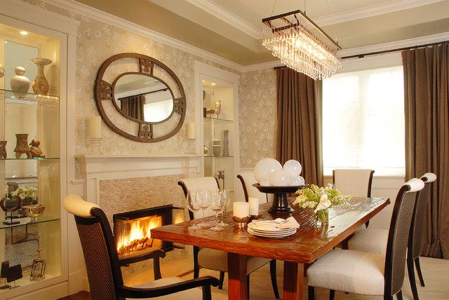 Eclectic Dining Room by Annette English