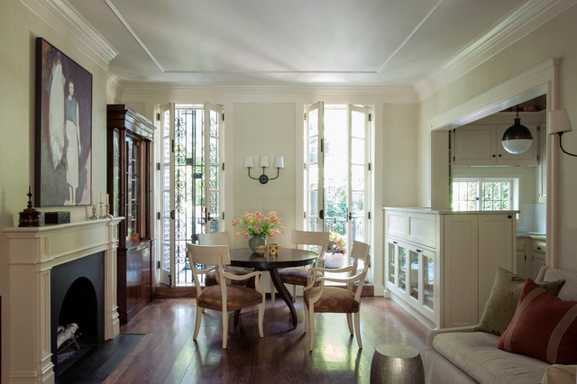 Manhattan duplex traditional dining room new york for Dining room ideas with french doors