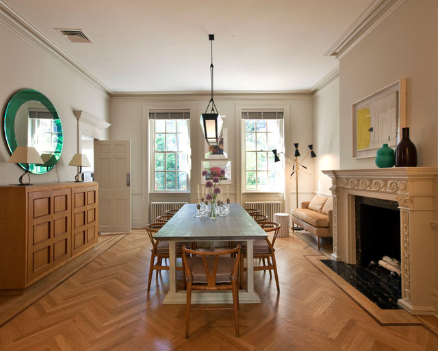 Manhattan townhouse modern dining room new york by for Manhattan interior designs
