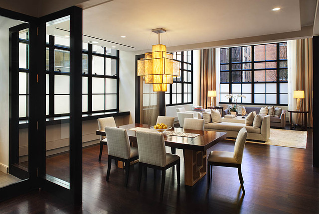 Manhattan Tribeca Triplex industrial-dining-room