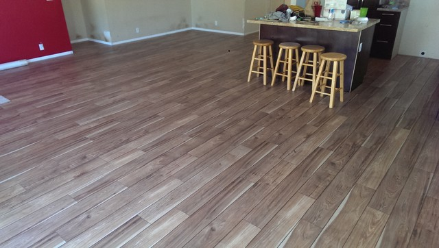 Hardwood Flooring Dealers Installers Mannington Laminate Color Sawmill Hickory Natural Rustic Dining Room