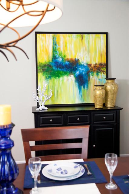 Manotick Living Room/Dining Room contemporary-dining-room