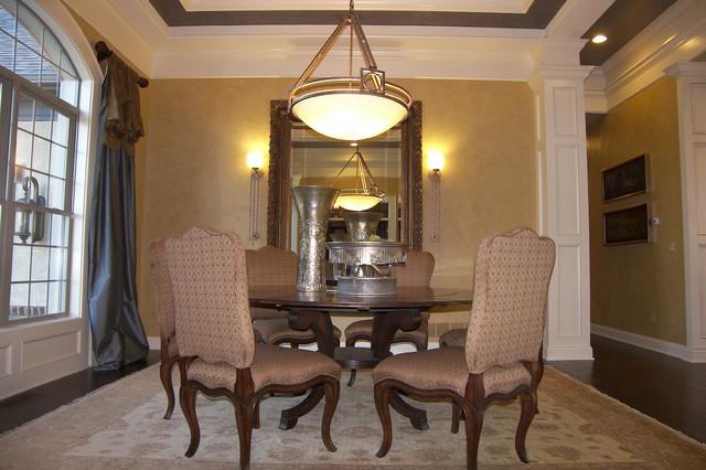 Mansard traditional dining room columbus by baker for Mansard room