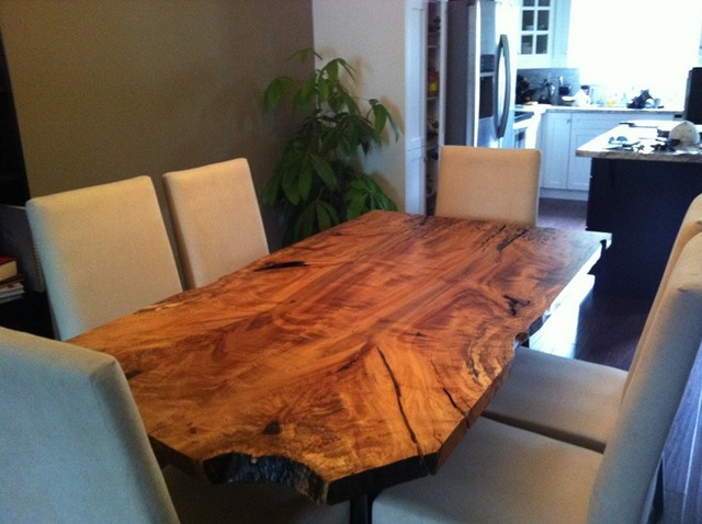 maple live edge dining table eclectic dining room toronto by urban tree salvage. Black Bedroom Furniture Sets. Home Design Ideas