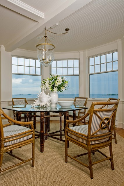 Anita clark design · interior designers decorators marblehead coastal home beach style dining room
