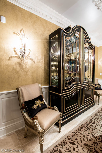 Marge Carson Display Cabinet - Traditional - Dining Room - Chicago ...