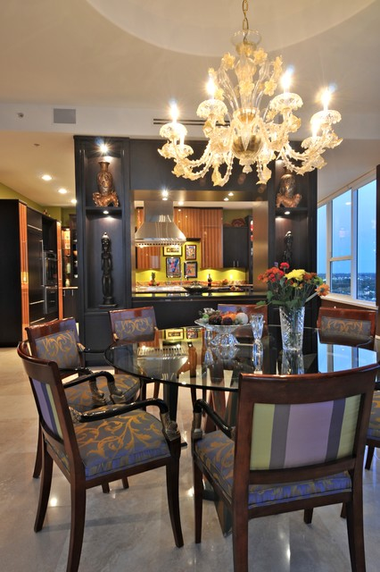 Marina Tower Penthouse contemporary-dining-room