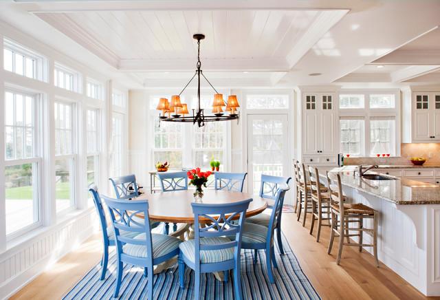 Martha S Vineyard Home Beach Style Dining Room