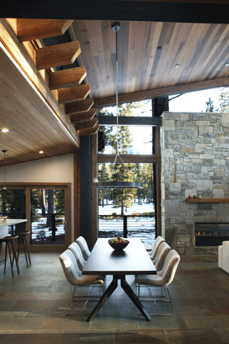 Mountain style dining room photo in San Francisco