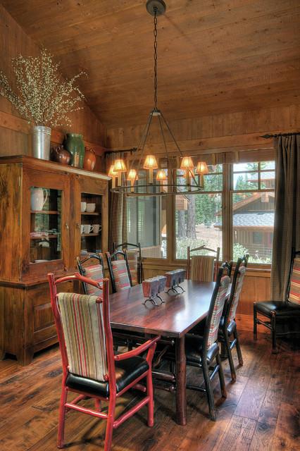 Martis Camp, Lake Tahoe rustic-dining-room