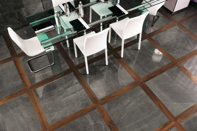 Marvel Premium Italian Marble Look Porcelain Tiles  : contemporary dining room from www.houzz.com size 640 x 426 jpeg 90kB