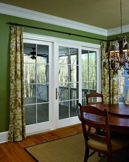 Marvin patio doors traditional dining room new york for Marvin screen doors