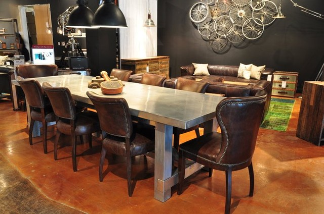 Masculine dining room eclectic dining room baltimore for Ver comedores modernos