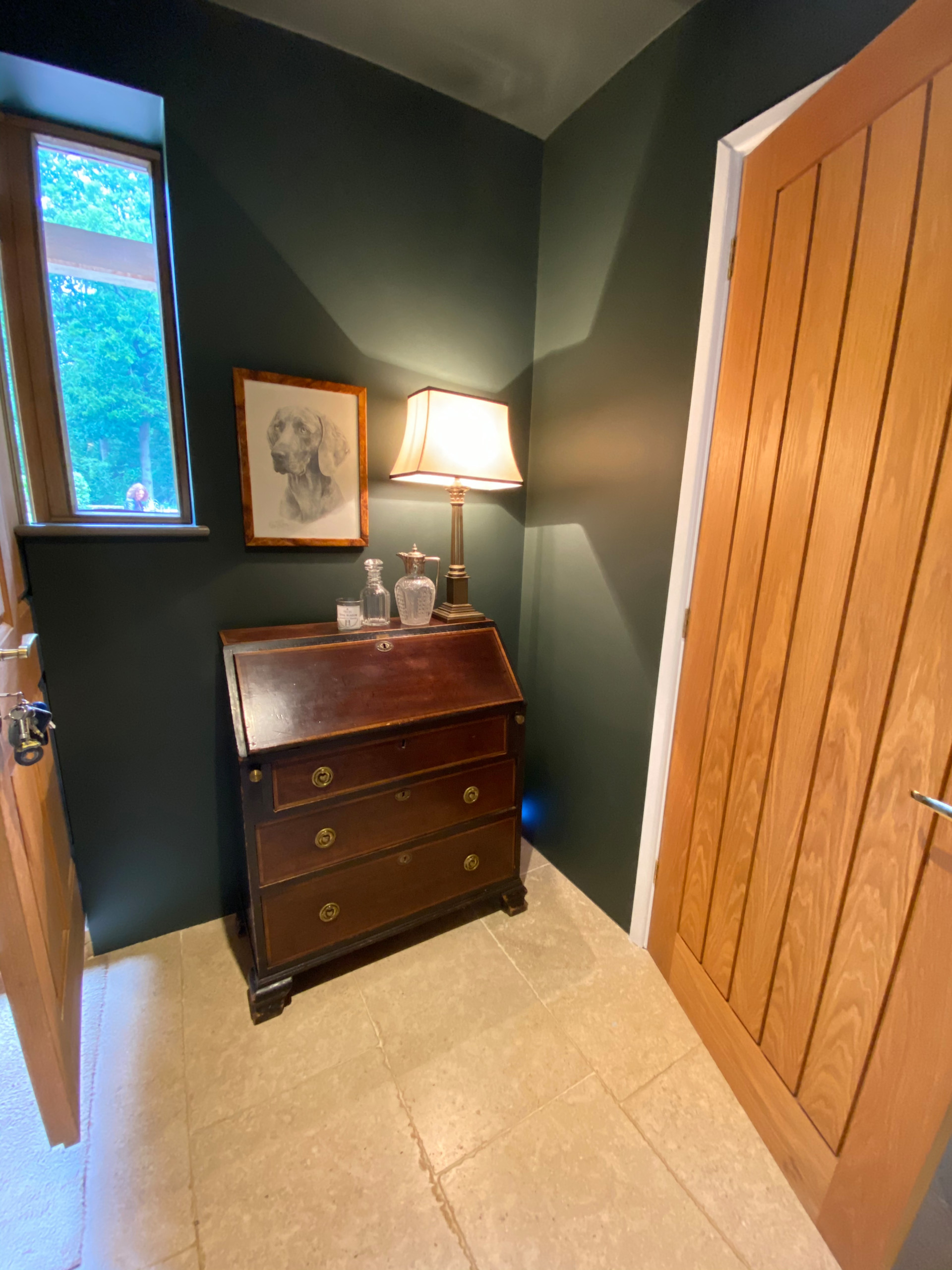 Masculine Hallway and Dining Room