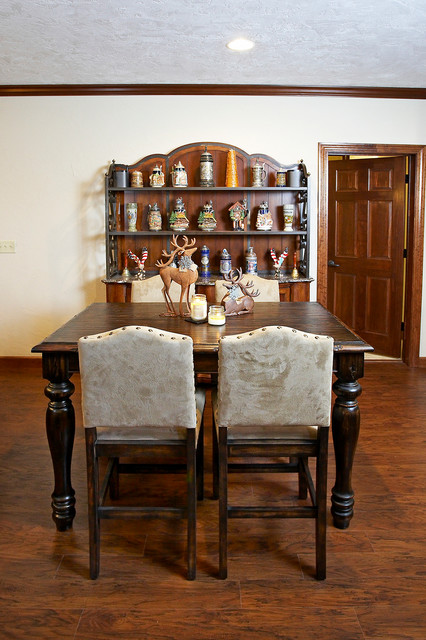Man Cave Dining Room : Massive man cave in lebanon il rustic dining room