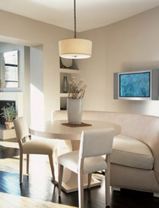 modern dining room by Bruno Kearney Architects, LLP