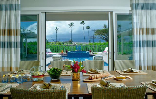 Maui Beach House tropical-dining-room