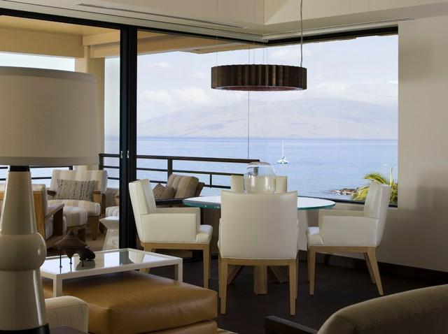 Maui Condo contemporary-dining-room