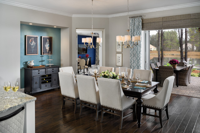 May river 1294 model in blufton sc transitional for Model home dining room