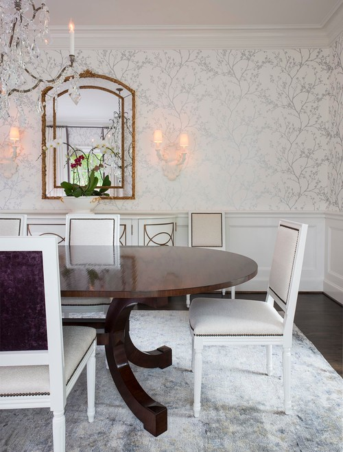 interior design - silver and white wallpaper design