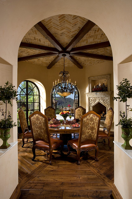 Mediterranean Dining Room by Fratantoni Luxury Estates