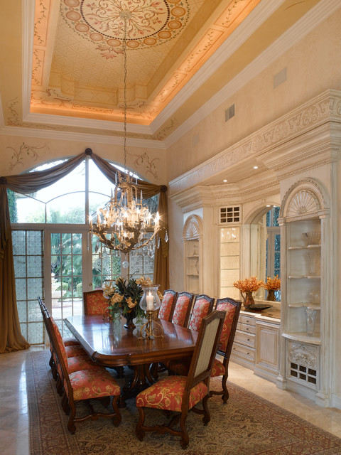 Private residence mediterranean dining room