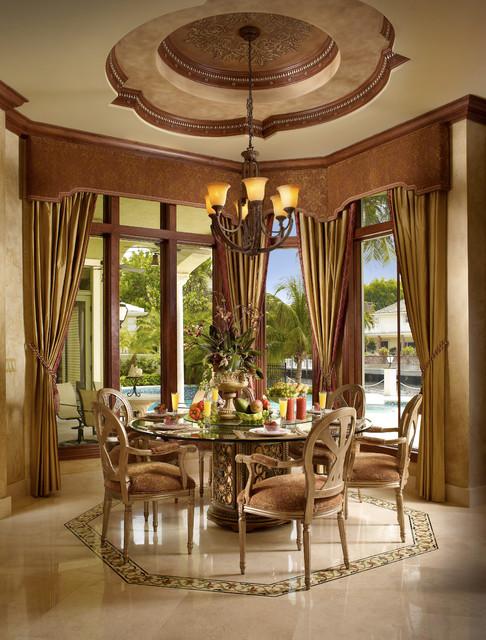 Raj private residence mediterranean dining room for Mediterranean dining room design ideas