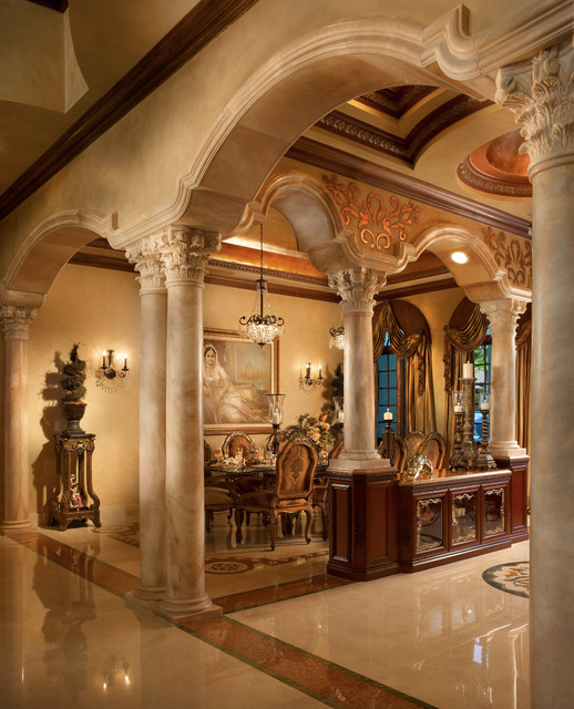 Raj private residence mediterranean dining room for Tuscan style homes interior