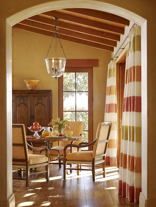 Curtain inspiration no windows allowed for Dining room no windows