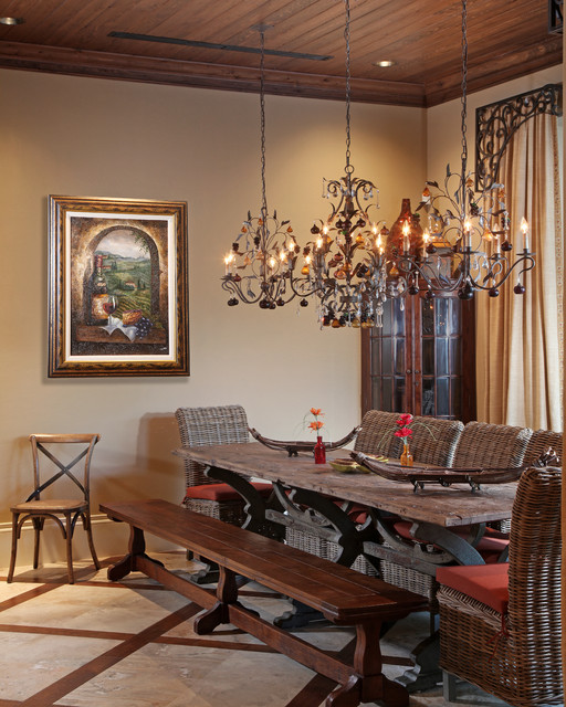 Old World Dining Room Chandeliers: Mediterranean Dream