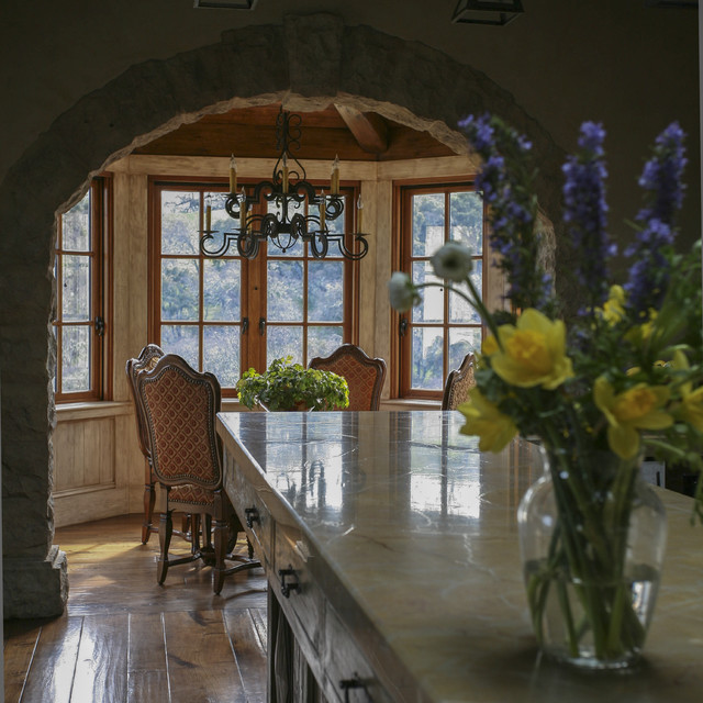Mediterranean Equestrian Estate, Carmel, California mediterranean-dining-room