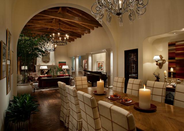 Mediterranean villa in dc ranch mediterranean dining for The living room dc ranch