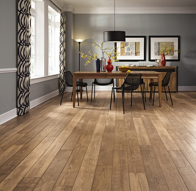 Medium laminate flooring mannington restoration for Medium dining room ideas