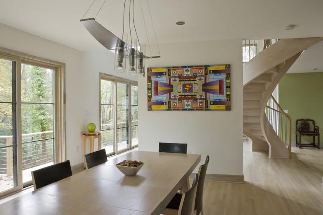 Melbourne Home contemporary-dining-room