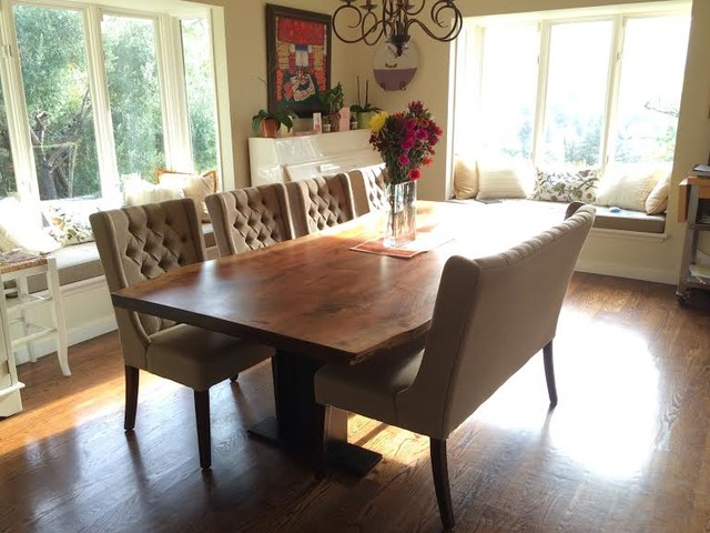 menlo hardwoods tables transitional dining room by
