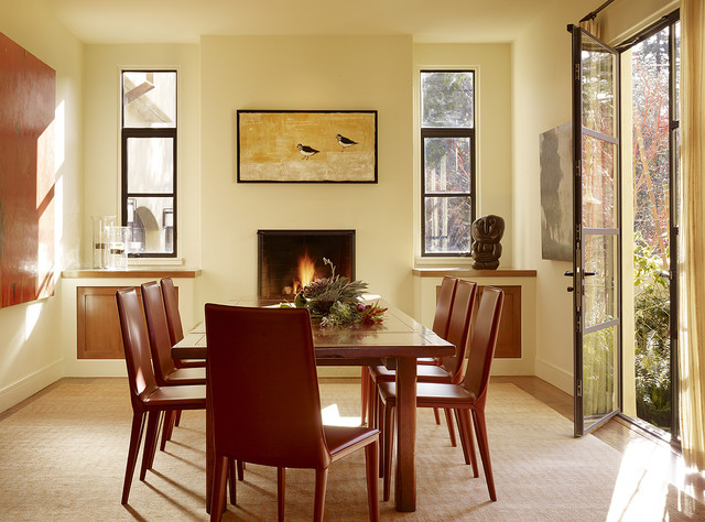 Menlo Park Residence transitional-dining-room