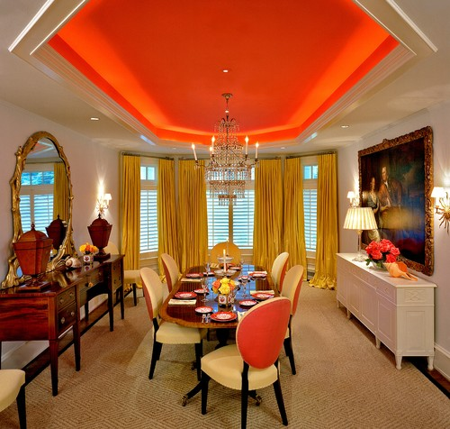 Orange decorations: be part of the trend Orange decorations: be part of the trend traditional dining room