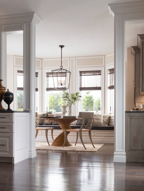 Dining Room Featuring Metrie Moulding