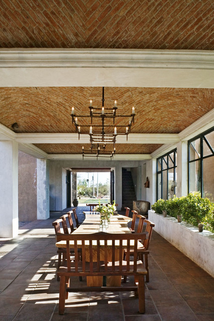 Mexico house mediterranean dining room new york by for Mexican dining room ideas