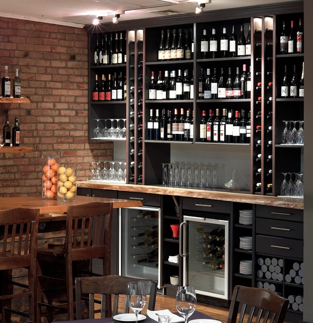 Mezze Restaurant Wine Storage Modern Dining Room Other