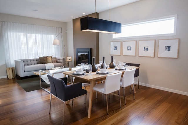 MH SMALL DETAILED Modern Dining Room Calgary By Natalie Fuglest