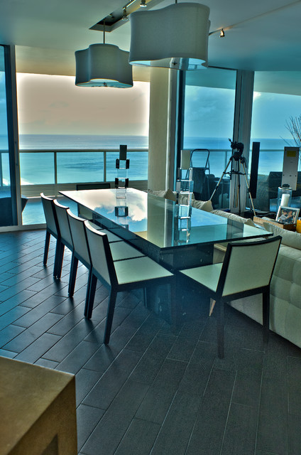 Beachfront Condo Renovations : Miami beach condo renovation contemporary dining room