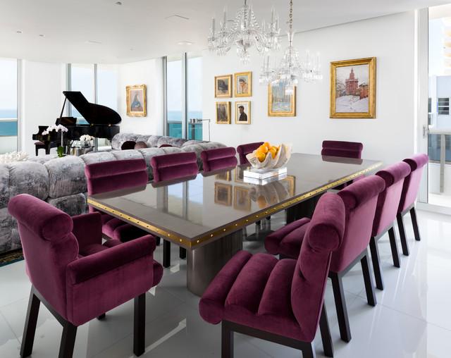 Miami Beach Contemporary, Modern Dining Room Furniture Miami Beach