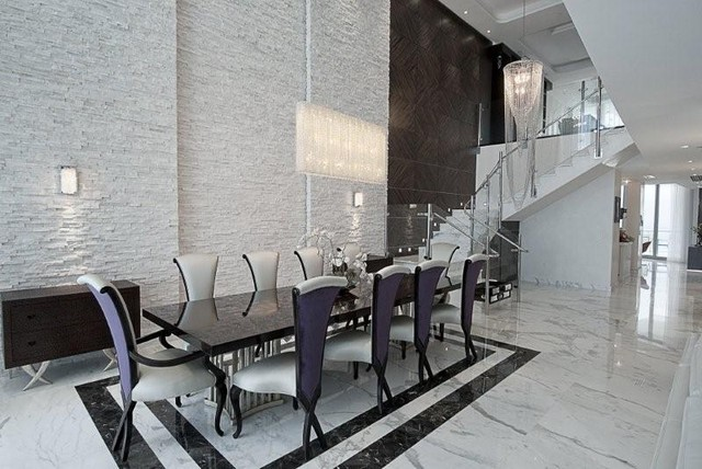Miami luxury condo contemporary dining room miami by heritage luxury builders - Modern dining room ...