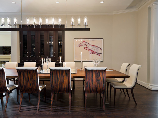 michael molthan luxury homes interior design group modern dining room - Modern Luxury Dining Room