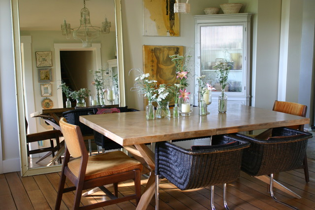 Michigan Farmhouse Shabby Chic Style Dining Room