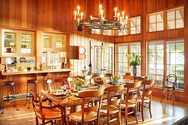Michigan Lake House - Rustic - Dining Room - Chicago - by Alan Design Studio
