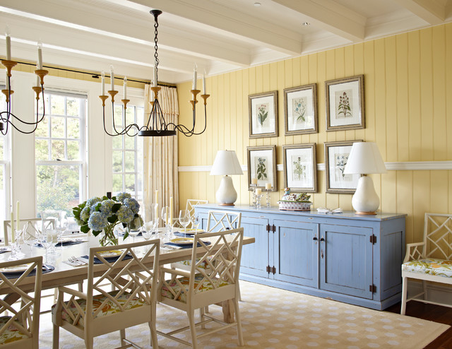 beach style dining room other metro by tom stringer design