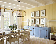 Harbor Springs Summer Home beach style dining room